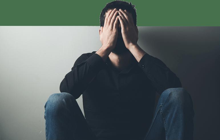 An anxious man